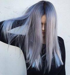 This is like my dream hair color Coiffure Hair, Ombre Hair Color, Grey Ombre, Pastel Grey, Pastel Colors, Dye My Hair, Hair Tie, Hair Looks, Hair Inspiration