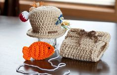 Crochet baby boy fisherman set www.facebook.com/craftsbysheraya