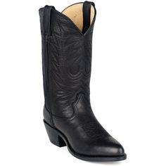 Durango Womens Black Leather Western #2 Toe Cowboy Boots