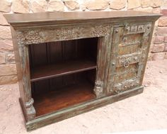 W/ OLD CARVING ONE SIDE SHELVES SIDEBOARD [₹26,000]