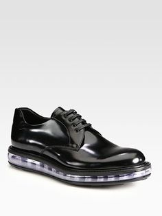 Prada Leather Lace-Up Derby