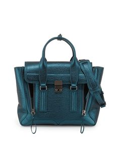 3.1 Phillip Lim Pashli Medium Metallic Satchel Bag