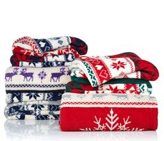 Stay warm and cozy with help from this adorable reindeer throw!