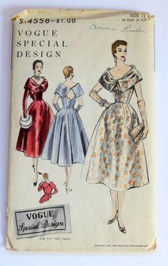 Vogue S-4558, ca 1954; Sz 12/Bust 30 - love the bolero!