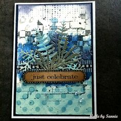 Made by Sannie: Winter Blues card with video tutorial - #sssmchallenge