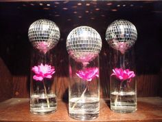 party ideas on Pinterest | Mirror Ball, Disco Ball and Centerpieces