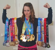 Sporting my Disneyland race medals -- 7 Tips to Get the Most Out of Your Disneyland Half Marathon / 10K / 5K, #runDisney
