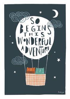 This Wonderful Adventure Greeting Card 2-56C by FreyaArt on Etsy