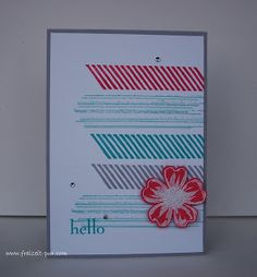 StampinUp! Flower Shop, Happy Day, Georgeous Grunge Embossing