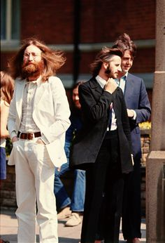 The Abbey Road photo shoot, August 8, 1969. Photos by Linda McCartney and Iain MacMillan.