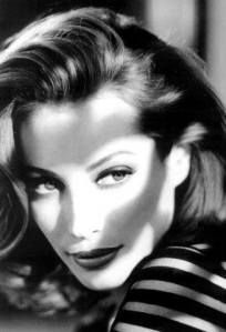 Christy Turlington-her Lauren Bacall look?