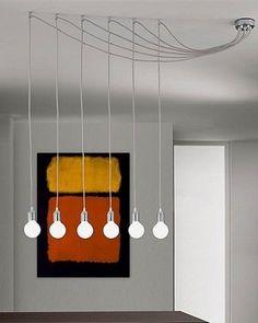 CABLE GLOBES CHANDELIER LIGHT - DIY #home #decor