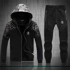 ec37626bfa New Arrival Men Leather Tracksuit Winter Casual Hooded Tracksuit Set Male  Autumn Slim Hoodie Sets