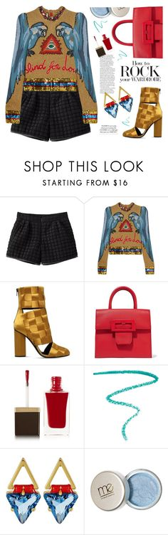 """""""It feels good to be back to Polyvore!"""" by celida-loves-pink ❤ liked on Polyvore featuring Gucci, Marco de Vincenzo, Maison Margiela, Tom Ford, Marc Jacobs, Rebecca Minkoff, ootd, Minimalist and glamrock"""