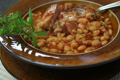 Mennonite Girls Can Cook: Great Northern Beans with Sausage and Pork Chops