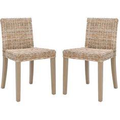 Safavieh Tulum Side Chair, Set of 2, Gray Wash
