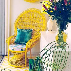 #Bright and #cheerful storefront display at... | Wicker Blog  wickerparadise.com