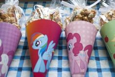 My Little Pony Caramel Popcorn Cones DIY