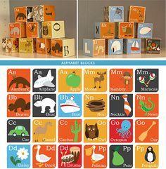 DIY - Alphabet Blocks - Free PDF Printables + Full Instructions for Making. Really Cute.