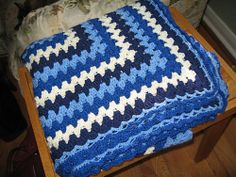 Ravelry: Project Gallery for Rectangular Granny Square pattern by SusanB