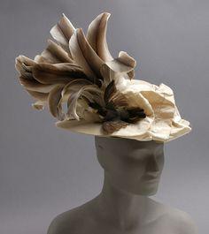 Hat - - Made in USA - Fur felt, silk, feathers - The Philadelphia Museum of Art - Watsonette Jeanne Lanvin, Madeleine Vionnet, Edwardian Fashion, Vintage Fashion, 1900s Fashion, Vintage Style, 20th Century Fashion, Philadelphia Museum Of Art, Antique Clothing