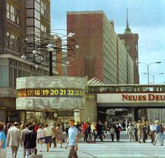 Alexanderplatz East Berlin 1970\'s