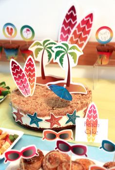 Surfer Girl Birthday Party - DIY Printables by PixieBearParty on Etsy