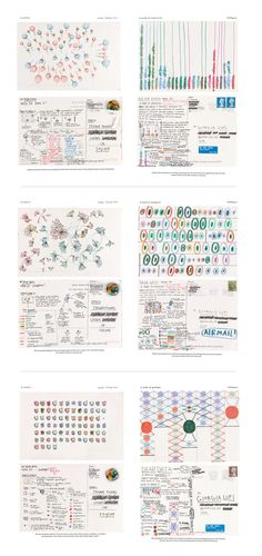 Dear Data- Each week, for a year, two data artists measured a particular type of data about their lives, and using this data made a postcard-sized drawing to each other internationally.