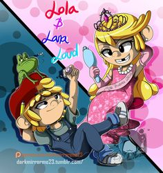 The Loud House: Lana and Lola Loud by DarkMirrorEmo23.deviantart.com on @DeviantArt