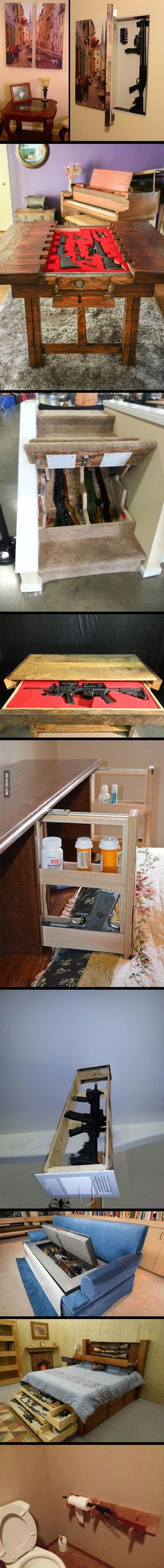 Clever and clandestine ways people hide guns - 9GAG