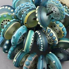Magma Beads Ultramarine Disks Handmade Lampwork Beads | eBay