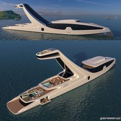 What do you think of this new yacht concept?Be unique. What do you think of this new yacht concept? Jet Ski, Yacht Design, Boat Design, Super Yachts, Big Yachts, Cool Boats, Yacht Boat, Boat Plans, Water Crafts