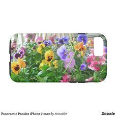 Panoramic Pansies iPhone 7 case