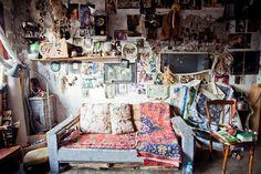 Beautiful hippie room.