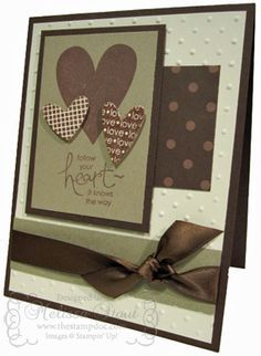 Stampin' Up! ... handmade Valentine card ... Chocolate theme ... monochromatic browns ... like the layout ... color makes this an ideal card for a male ...