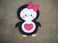 Penguin Applique Patch - Iron on. $4.50, via Etsy.