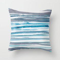 Buy 15 | 190408 Blue Abstract Watercolour Throw Pillow by valourine. throw pillows couch |floor pillows | cover pillows | throw pillows | cushion pillows | watercolour patterns | home decor items | home decor furnishing | surface pattern design | abstract design | watercolour patterns | watercolour designs | made to order | redbubble pillows | gorgeous feminine pillows #homedecor #homedecorideas #homedecoraccessories #pillows #throwpillows