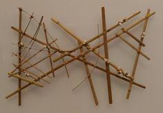 Micronesian navigational chart from the Marshall Islands