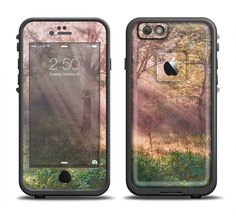 The Pink Sun Ray Meadow Apple iPhone 6 LifeProof Fre Case Skin Set