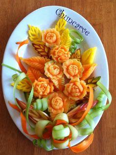 Melon Bouquet Platter by Chuncarv.deviantart.com on @deviantART