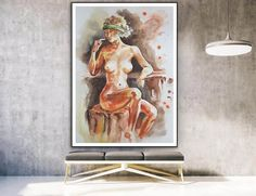 Nude art on Canvas Naked body painting Erotic art Gallery image 2 Colorful Artwork, Colorful Paintings, Your Paintings, Original Paintings, Large Painting, Body Painting, Modern Wall Decor, Modern Art, Watercolor Art Paintings