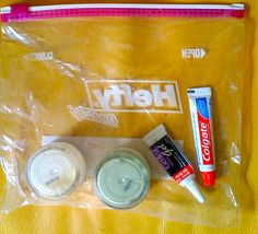 Tips on how to pack toiletries into quart Ziploc bag per TSA regulations