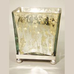 Bougainvillea Fragrant Candle in Square Antique Mirror Glass Container w/ Stand @Demi Bredefeld Ryan #demiryanhome #shop #homedesignboutique #design www.demiryan.com
