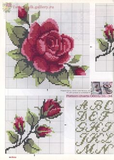 Gallery.ru / Фото #42 - Anna 6 2003 - Tatiananik Cross Stitch Pillow, Cross Stitch Rose, Cross Stitch Flowers, Cross Stitch Charts, Cross Stitch Patterns, Crochet Patterns, Cross Stitching, Cross Stitch Embroidery, Hand Embroidery