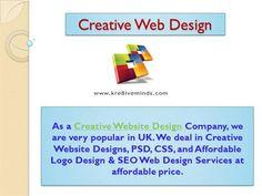 Creative Web Design by Kre8iveminds via authorSTREAM