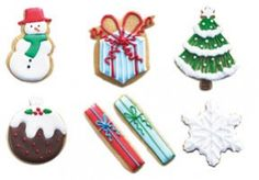 iced christmas biscuit tin biscuiteers - delicious hand iced biccies to order on line - say it with icing