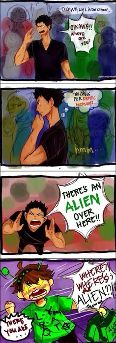 Oikawa Tooru and aliens
