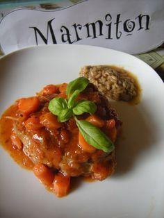 Osso bucco de veau : très facile et très bon ! Veal Osso Bucco, Crockpot Recipes, Cooking Recipes, Healthy Dinner Recipes, Carne, Clean Eating, Food And Drink, Ethnic Recipes, Bouquet Garni