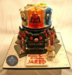 Custom Gumpaste Lego Ninjago inspired Cake Toppers, whole set of 5 ninjas and sensei wu