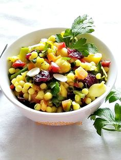The Perfect CousCous Salad with Chick Peas - Simply Caribbean Couscous Salad With Chickpeas, Rice Like Pasta, Bajan Recipe, Baked Macaroni, Macaroni Pie, Southern Macaroni And Cheese, Onion Relish, Food Tasting, Caribbean Recipes